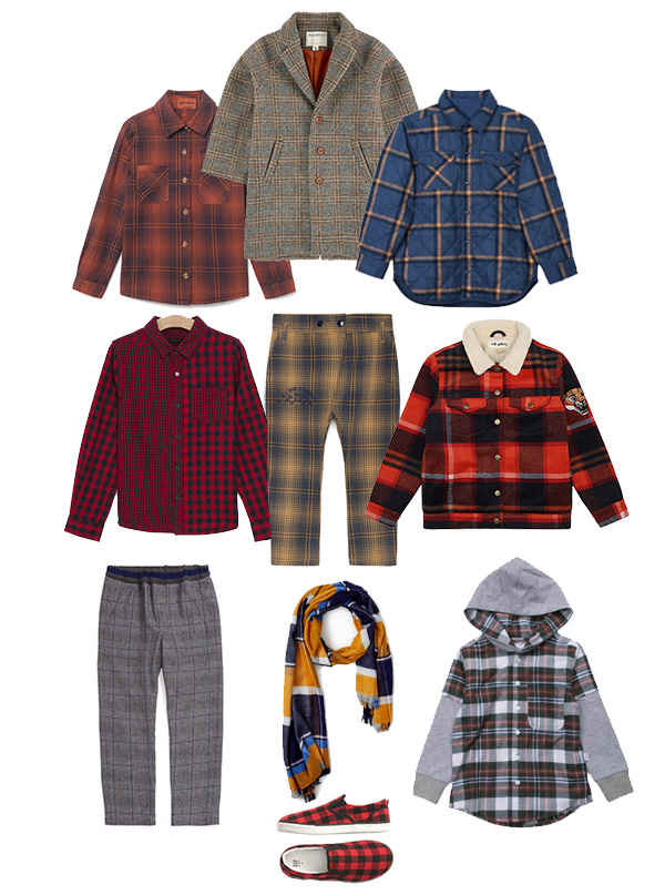 Boys Fashion - Plaid Trend