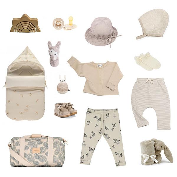 Mode bébé en beige