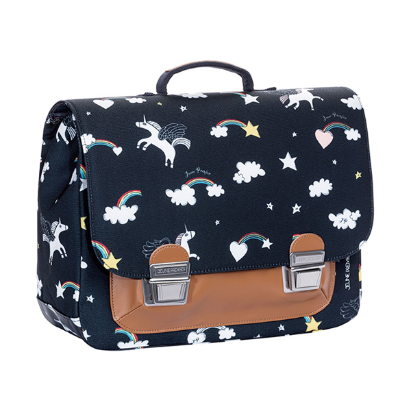JEUNE PREMIER Cartable Midi Rainbow Unicorn