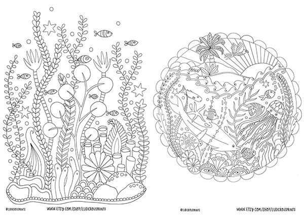 Free Coloring Pages For Kids And Adults #StayAtHome