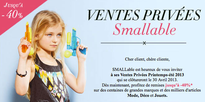 SMALLable - Ventes privées