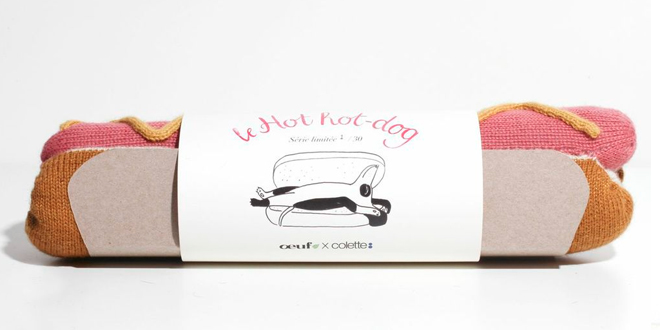 "OEUF X COLETTE ""Hot"" hot-dog"