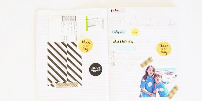 DIY travel journal for kids