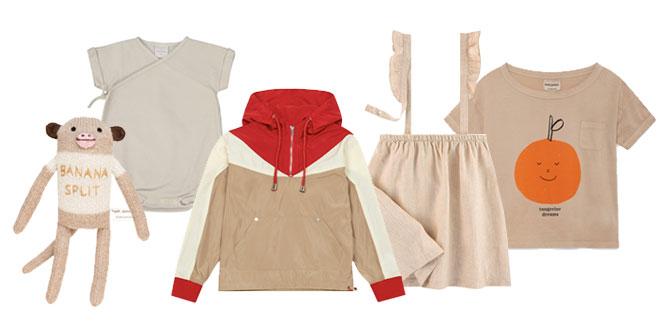 Mode enfant couleur beige