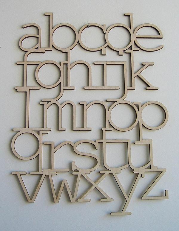 Bookhou Design Alphabet en bois